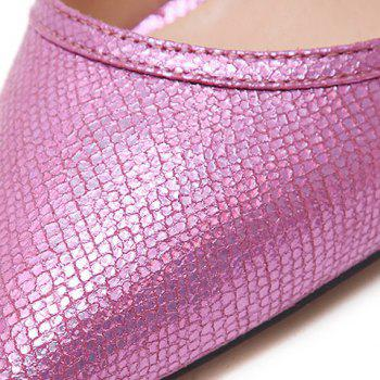 Fashionable Transparent Plastic and Embossing Design Women's Pumps - 37 37