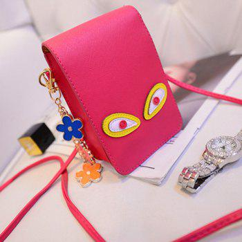 Cute PU Leather and Solid Colour Design Crossbody Bag For Women - ROSE