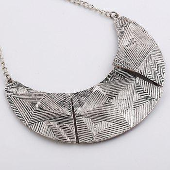 A Suit of Delicate  Alloy Geometric Necklace and Earrings For Women - SILVER