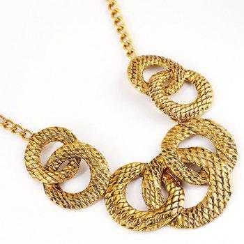 A Suit of Moon Round Necklace and Earrings - GOLDEN