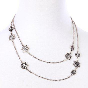 Trendy Floral Rhinestone Necklace For Women