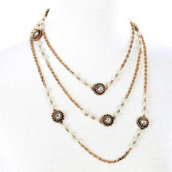Trendy Rhinestone Long Style Necklace For Women