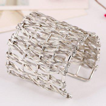 Hollow Out Woved Cuff Bracelet