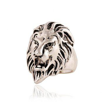 Chic Lion Head Shape Ring For Men