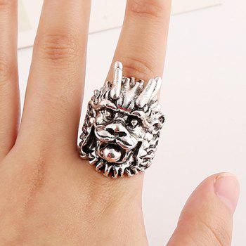 Chic Dragon Head Shape Ring For Men - ONE-SIZE ONE-SIZE