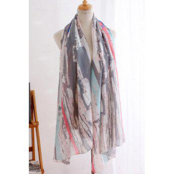 Chic Irregular Splash-Ink Stripe Pattern Women's Scarf