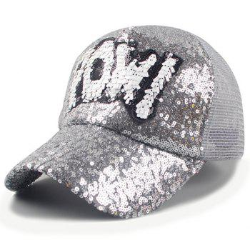 Chic Sequins and Letter Shape Embellished Women's Baseball Cap
