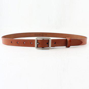 Chic Metal Pin Buckle Simple Women's PU Belt