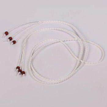 Chic Beads Embellished Candy Color Women's Weaving Waist Rope
