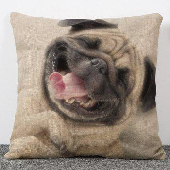 Creative Sweet Style Animal Dog Pattern Flax Pillow Case(Without Pillow Inner)