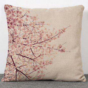 Hot Sale Flower Plants Pattern Flax Pillow Case(Without Pillow Inner)