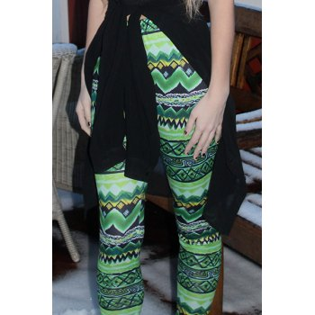 Stylish Elastic Waist Skinny Colored Printed Women's Leggings - ONE SIZE(FIT SIZE XS TO M) ONE SIZE(FIT SIZE XS TO M)