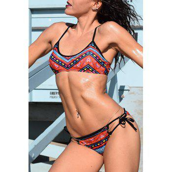 Ethnic Women's Printed Strappy Bikini Set