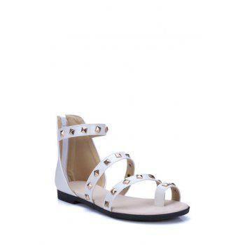Stylish Rivet and Toe Ring Design Sandals For Women