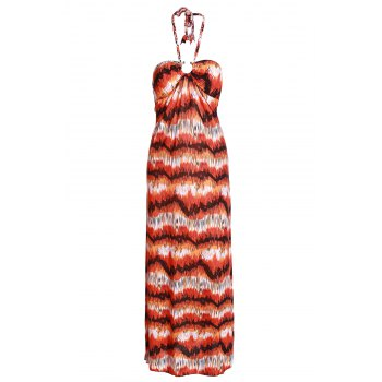 Bohemian Braided Strap Colored Women's Long Dress