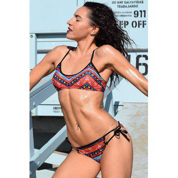 Ethnic Women's Printed Strappy Bikini Set - COLORMIX S