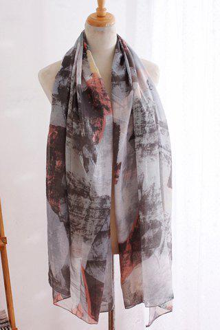 Chic Tie-Dyed Pattern Women's Scarf - GRAY