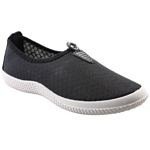 Simple Solid Color and Slip On Design Sneakers For Men - BLACK 39