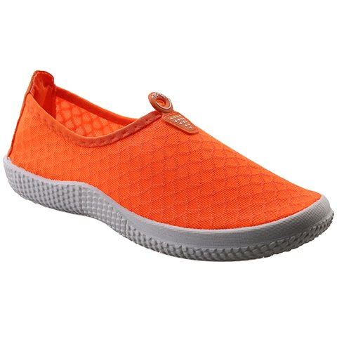 Simple Solid Color and Slip-On Design Sneakers For Women - JACINTH 36