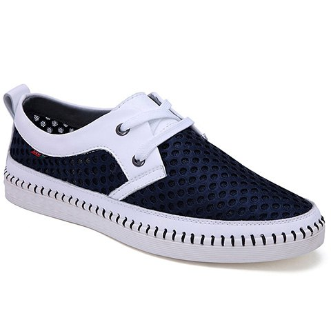 цены Simple Mesh and Lace-Up Design Casual Shoes For Men