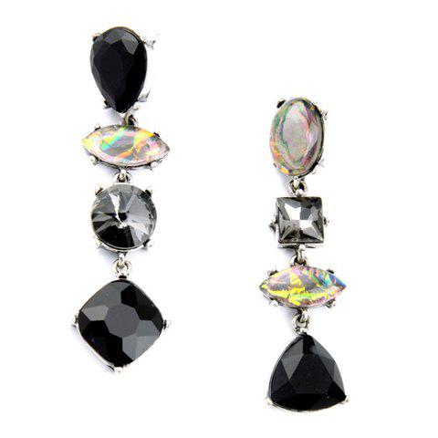 Pair of Chic Geometric Faux Crystal Earrings For Women