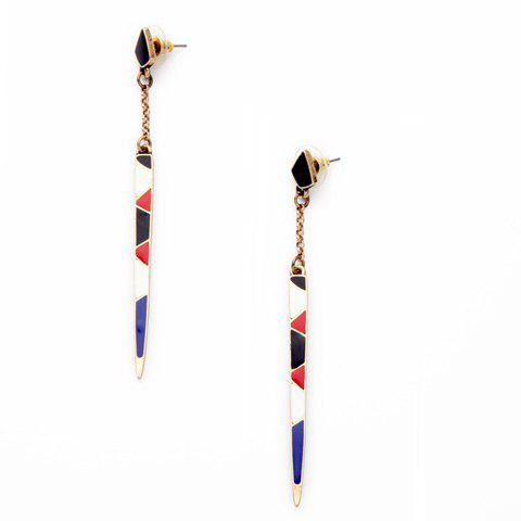 Pair of Geometric Glaze Earrings - COLORMIX