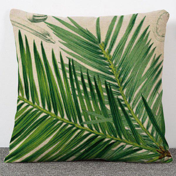 Chic Quality Plant Bamboo Pattern Flax Pillow Case(Without Pillow Inner)