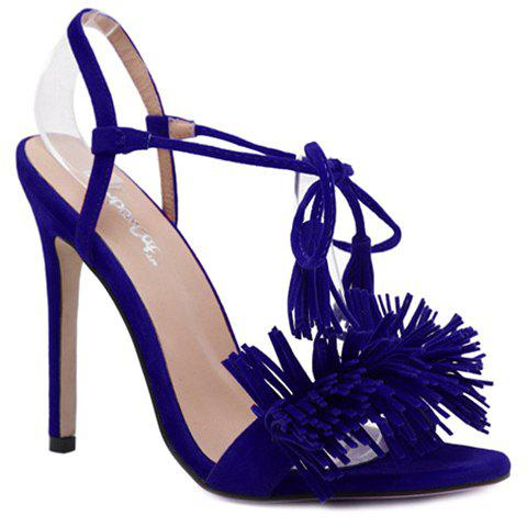 Trendy Lace-Up and Fringe Design Women's Sandals