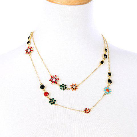 Gorgeous Rhinestone Floral Necklace For Women