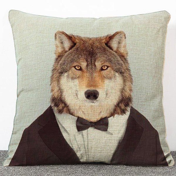 Stylish Cartoon Mr. Dog Pattern Flax Pillow Case(Without Pillow Inner) наволочка brand new 2015 mr right mrs al pillow case