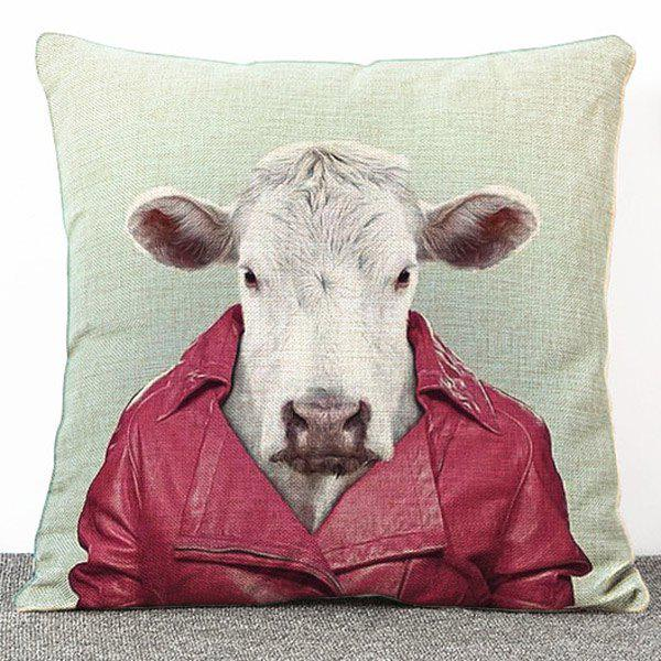 Hot Sale Cartoon Goat Pattern Flax Pillow Case(Without Pillow Inner) - COLORMIX