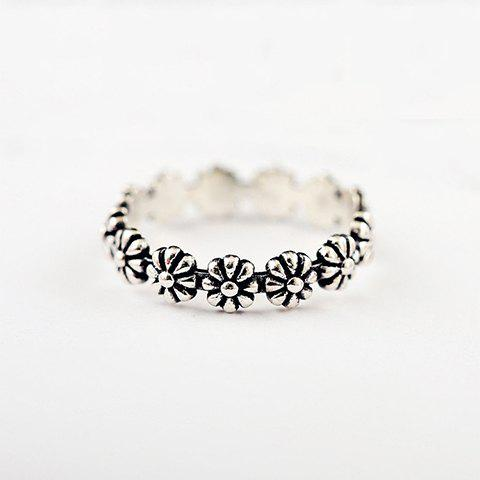 Trendy Simple Style Floral Ring For Women