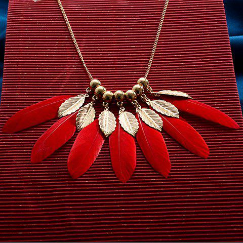 Chic Simple Style Feather Necklace For Women