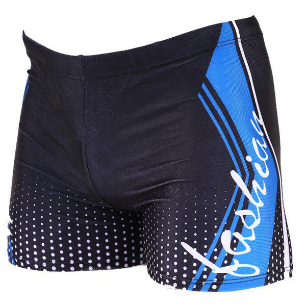 Elastic Waist Letter Printing Men's Boxers Swimming Trunks - COLORMIX ONE SIZE(FIT SIZE XS TO M)