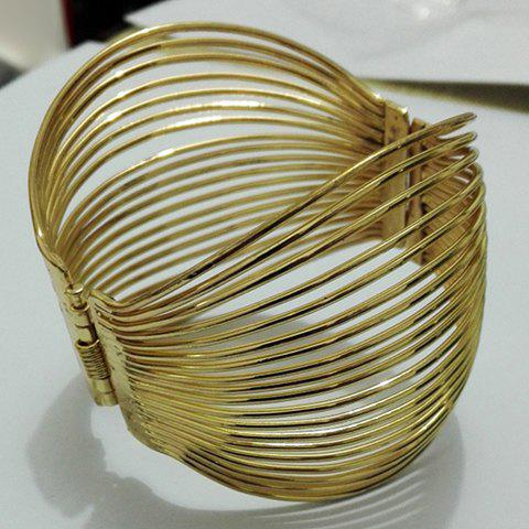 Multilayered Hollow Out Bracelet - GOLDEN