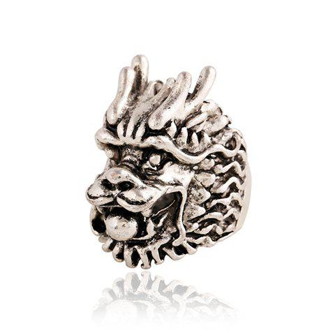 Chic Dragon Head Shape Ring For Men - SILVER ONE-SIZE