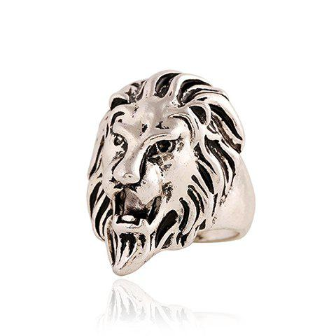 Chic Lion Head Ring Shape For Men - Argent ONE-SIZE