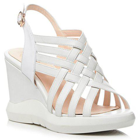 Trendy Platform and Weaving Design Women's Sandals