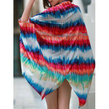 Trendy Colorful Loose Beach Cover-Up For Women - COLORMIX COLORMIX