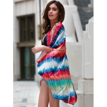 Trendy Colorful Loose Beach Cover-Up For Women - ONE SIZE(FIT SIZE XS TO M) ONE SIZE(FIT SIZE XS TO M)