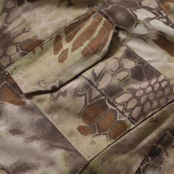 Men's Half Zip Outdoor Stand Collar Camo Suits(T-Shirt +Pants) - 2XL 2XL