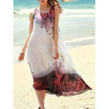 Bohemian Style Printed Sleeveless Women's Dress