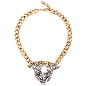 Rhinestone Bird Shape Necklace