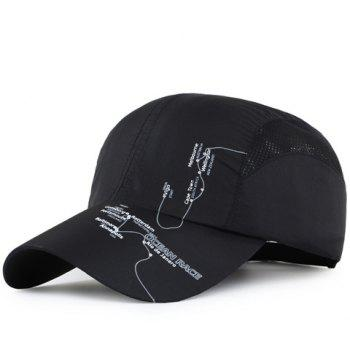 Fashion Letters and Lines Pattern Breathable Mesh Sport Baseball Cap