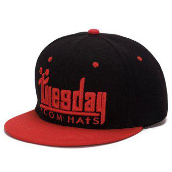 Fashion Tuesday English Word Shape Embroidery Baseball Cap