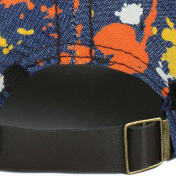 Lettres Mode broderie Multicolor Splash-Ink Motif Jeans Baseball Cap - Café