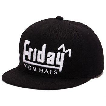 Fashion English Word Shape Embroidery Baseball Cap