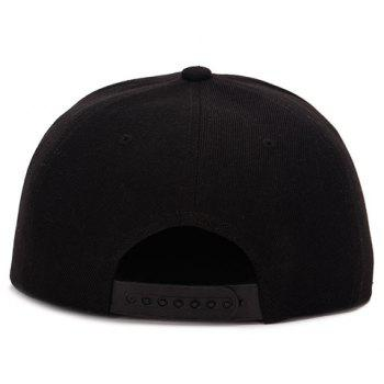Fashion English Word Shape Embroidery Baseball Cap - BLACK
