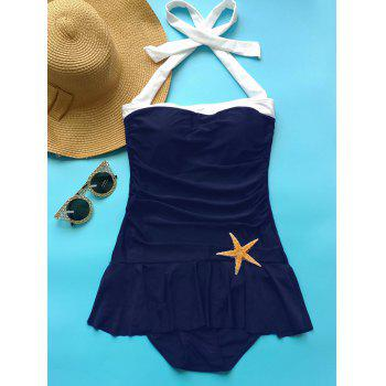 Fashionable Women's Halter Ruffled One-Piece Swimwear