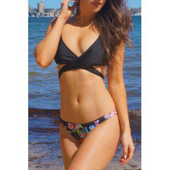 Floral Print Push Up Bikini Set Swimwear Women